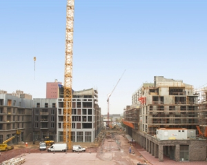 Stadsplein Genk in opbouw